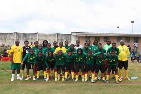 L' Equipe nationale féminine de football.